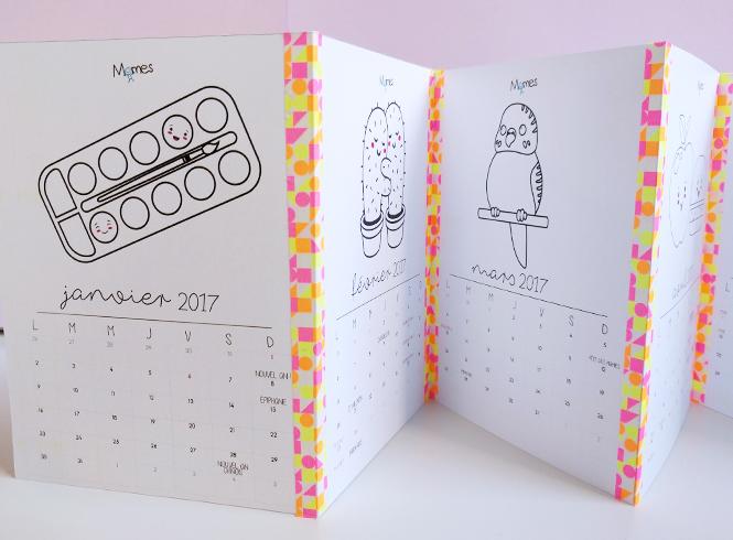 calendrier mensuel à imprimer 2017