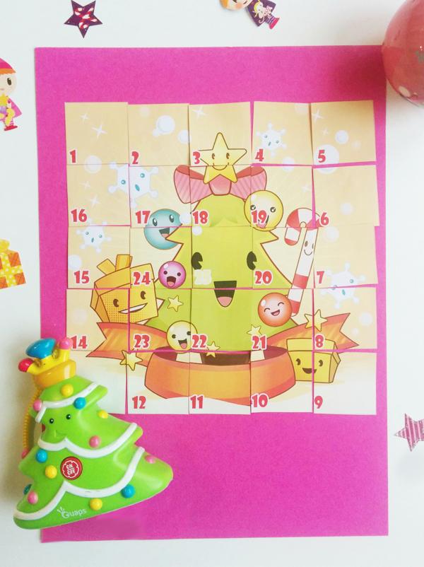 Calendrier de l'avent Puzzle de Noël