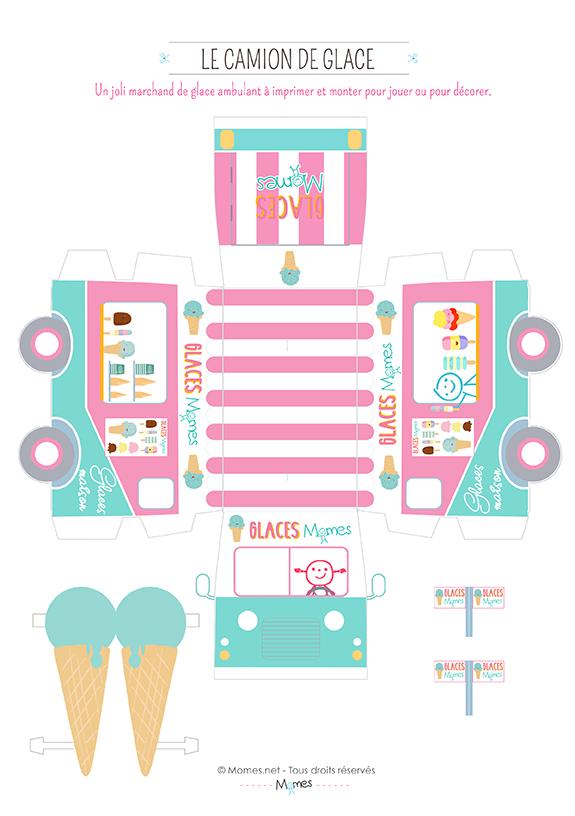 camion de glaces imprimer. Black Bedroom Furniture Sets. Home Design Ideas