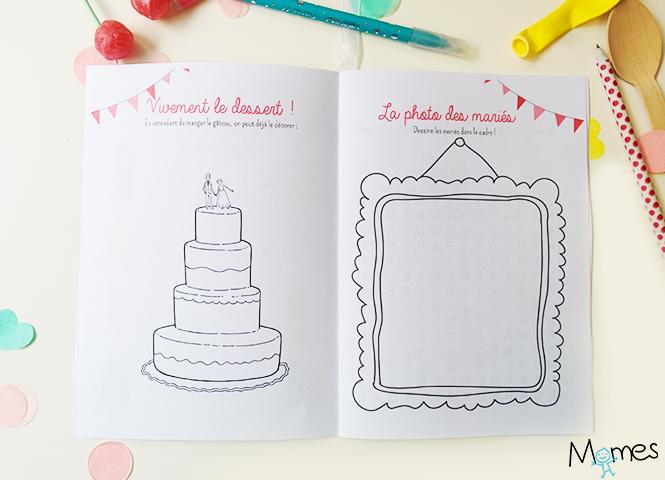 Super Le livret de coloriages et jeux pour enfant à un mariage - Momes.net AU32