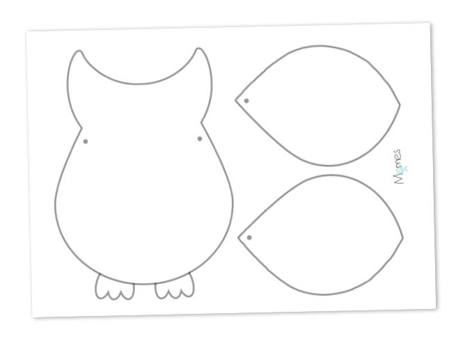 Carte chouette image à imprimer