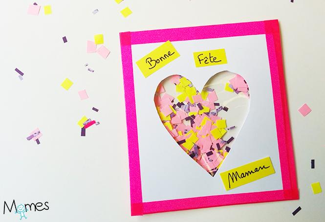 cartes fete des meres confettis