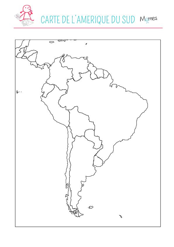Carte Amerique Du Sud Colorier.Carte De L Amerique Du Sud Momes Net