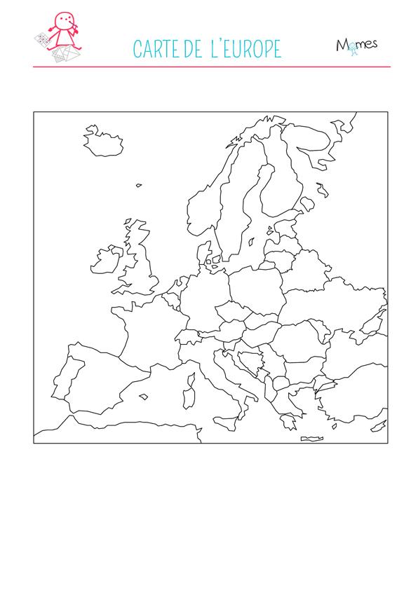 carte d europe à imprimer Carte de l'Europe   Momes.net