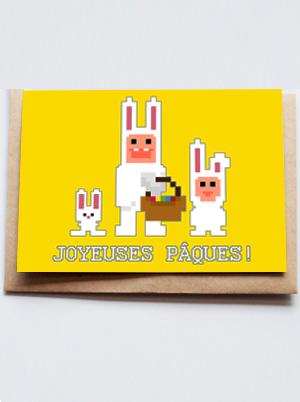 carte lapins de pâques