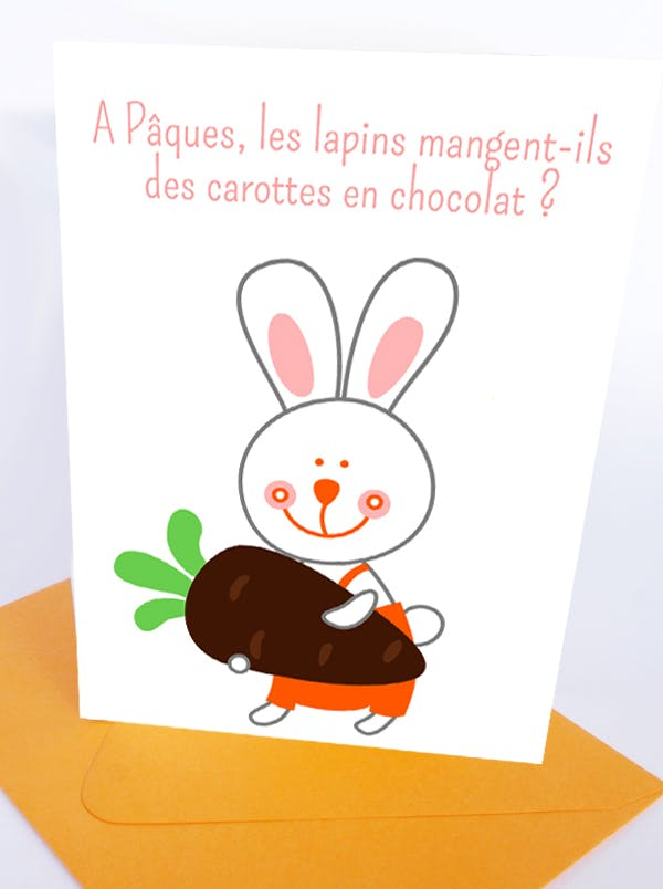 Carte de Pâques - Lapin