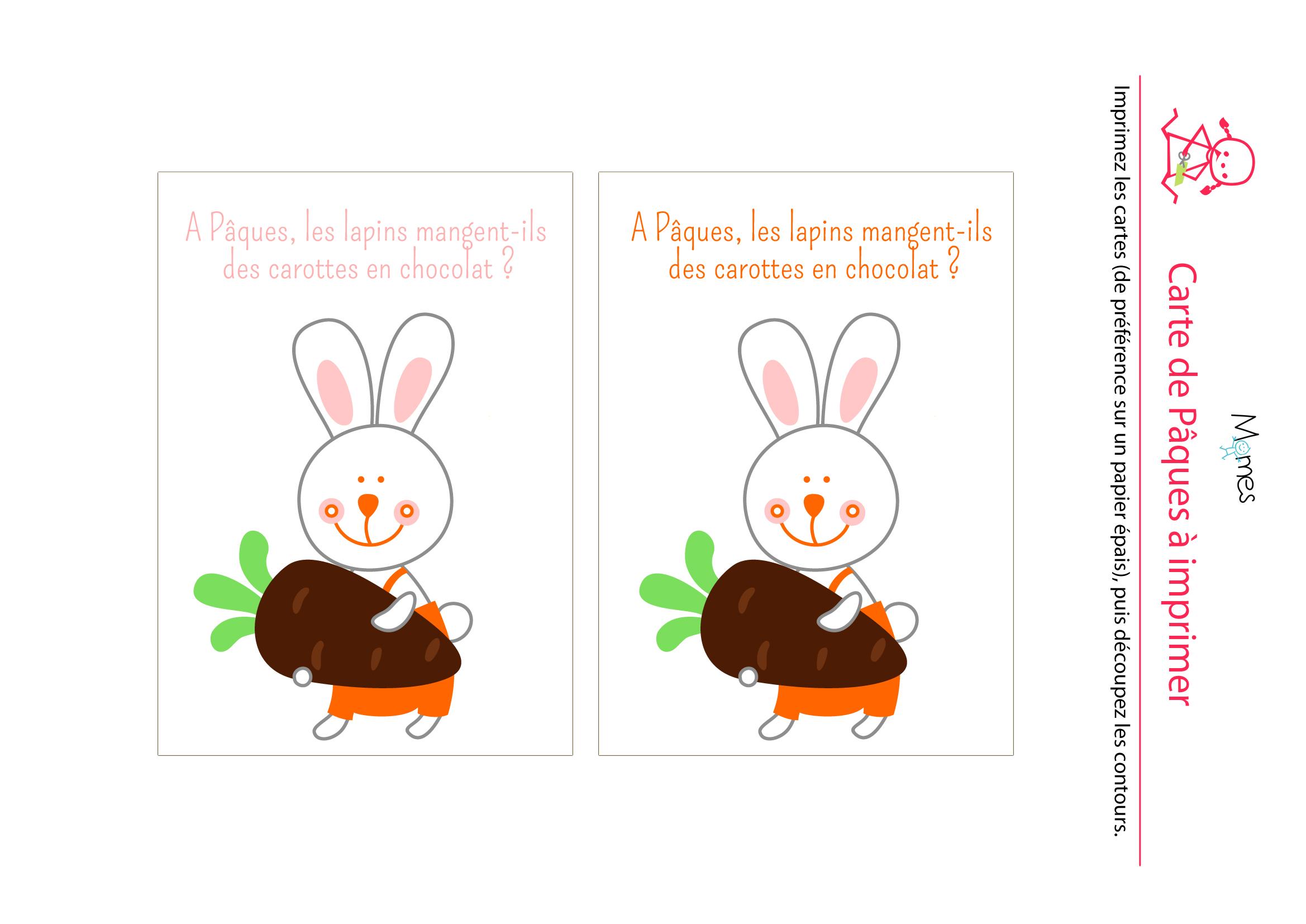 carte paques à imprimer