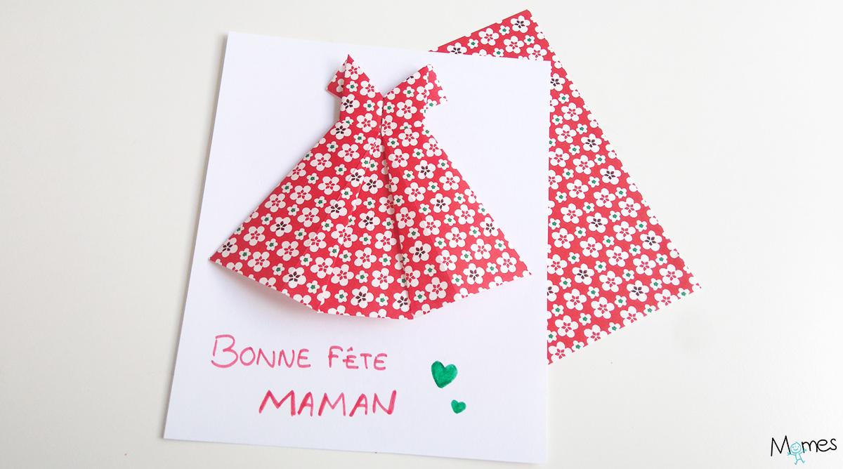Carte Fête Des Mères Une Robe En Origami Momes Net