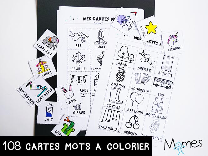 Les Cartes Mots Imagier Maternelle Momes Net