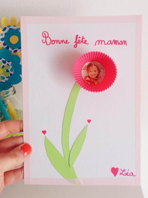 Carte ou cadre pour la fête des mères