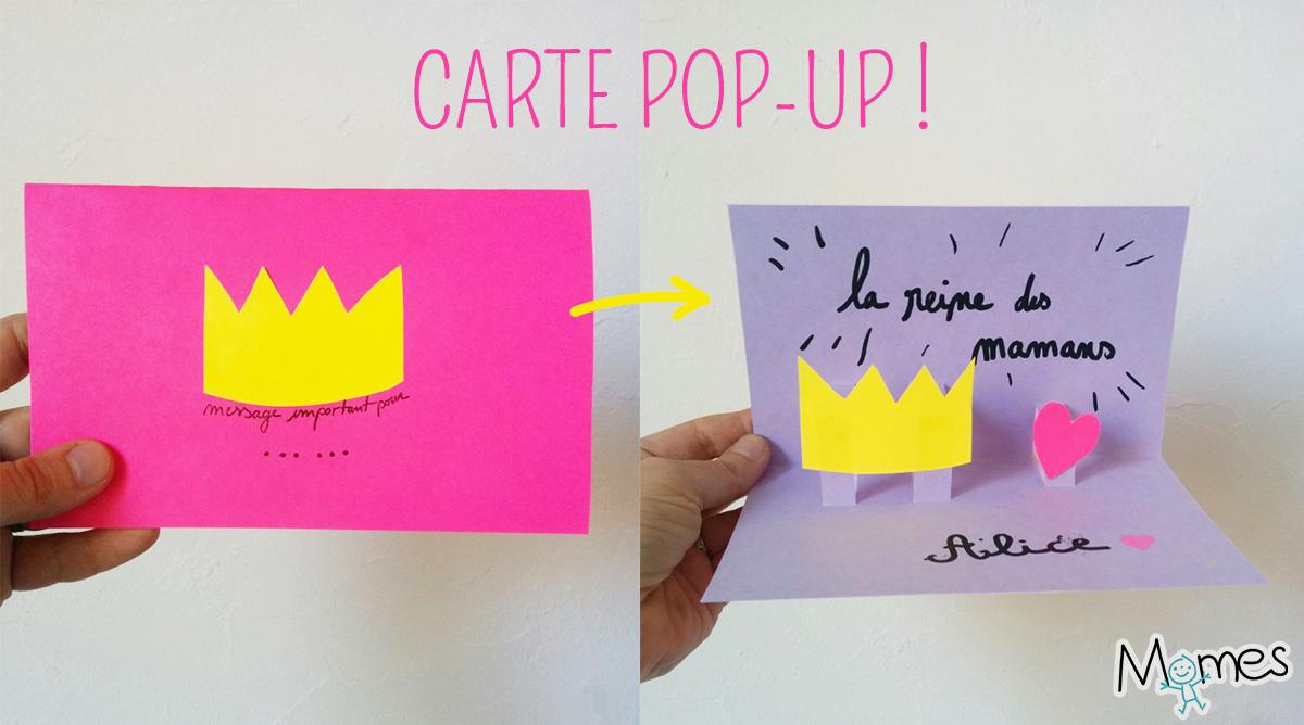 carte pop-up fête des mères - momes