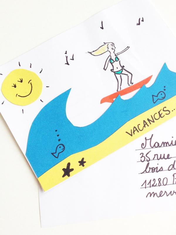 Carte postale vierge - Momes.net