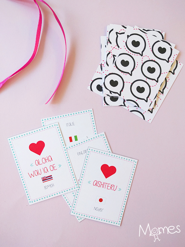 """Cartes-quiz """"je t'aime"""" dans toutes les langues"""