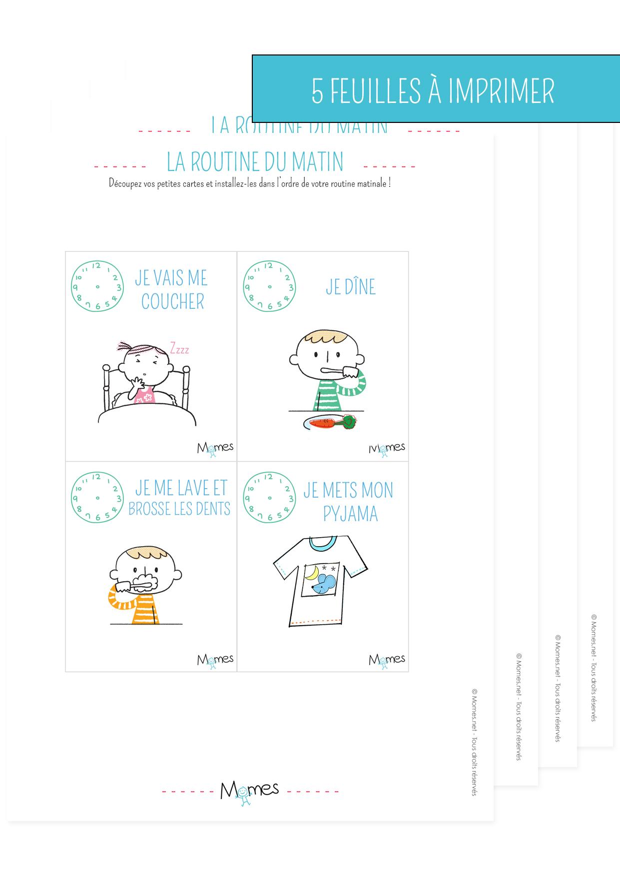 Super Cartes routines du matin et du soir - Momes.net HK46