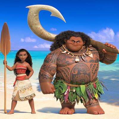 Vaiana Maui demi-dieu fillettes supermarché caissier hawaï