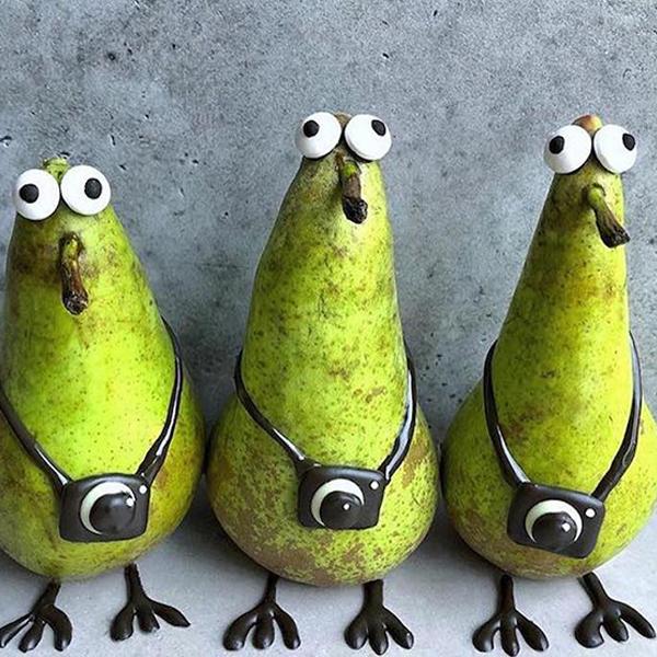 fruits et légumes transformés en personnages adorables