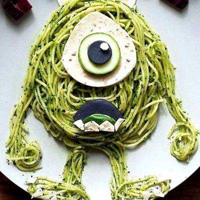 food art idées repas enfant assiette maman personnages dessins animés