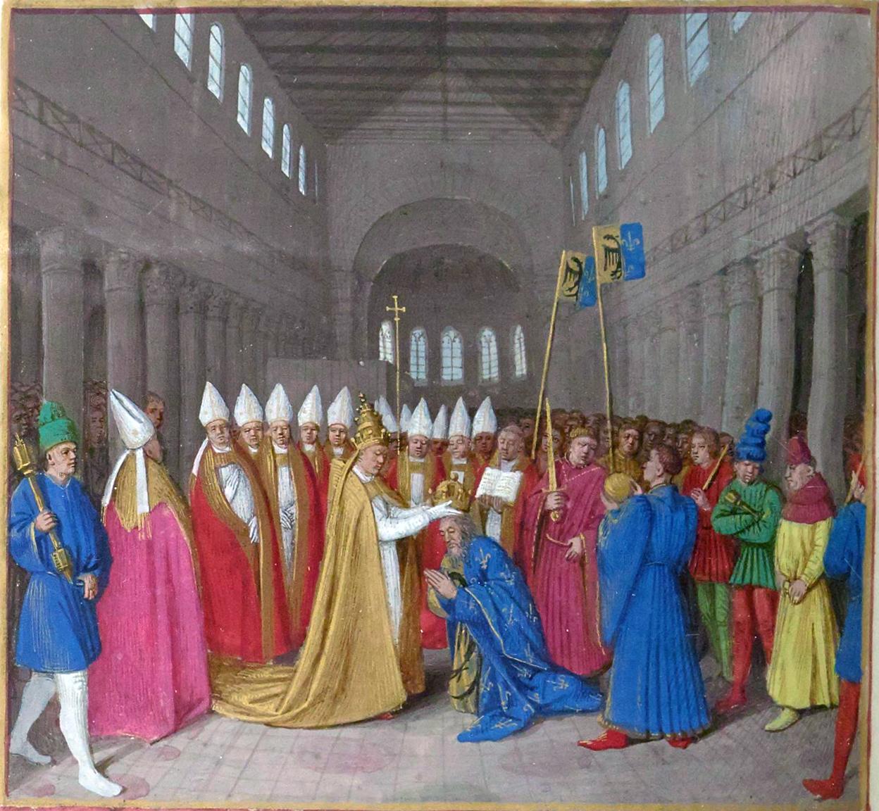 Charlemagne couronné Empereur par le pape Léon III (800)