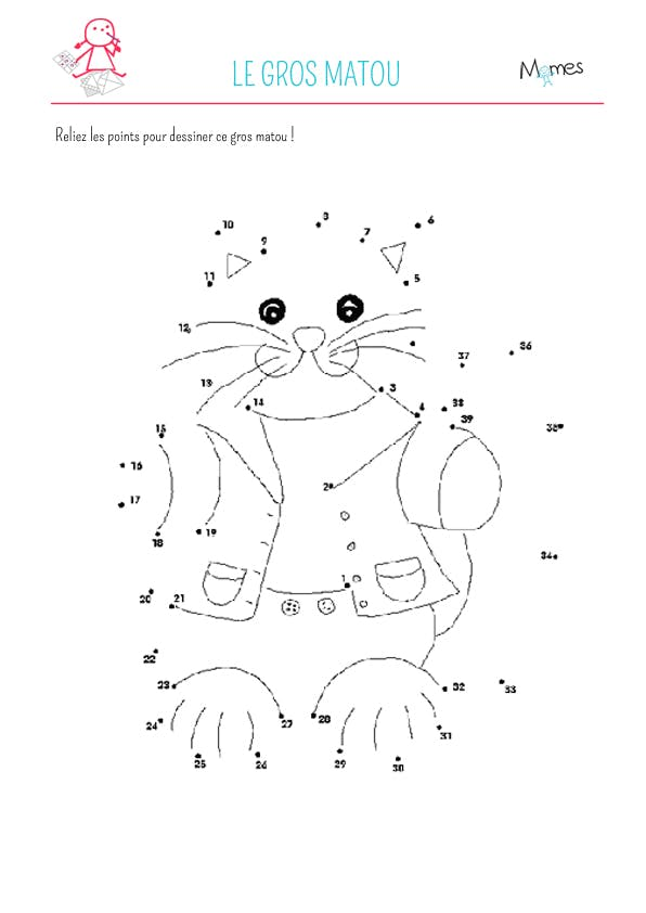 Chat alors relie les points - Jeux de coloriage de chat ...