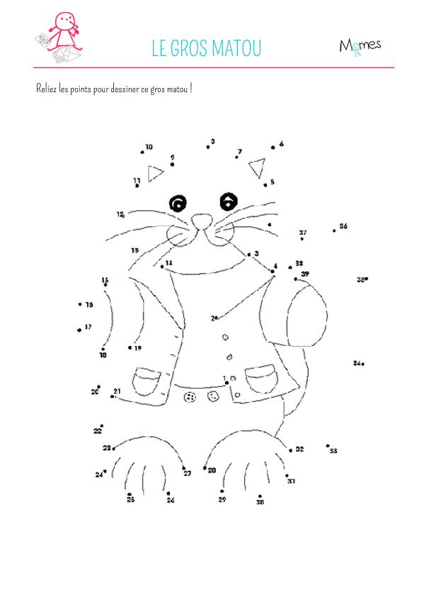 Le chat à relier