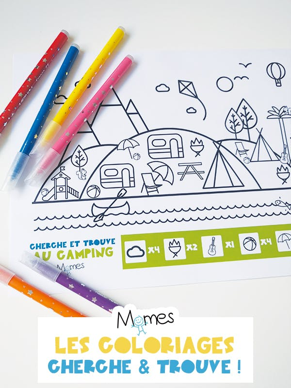 coloriage camping