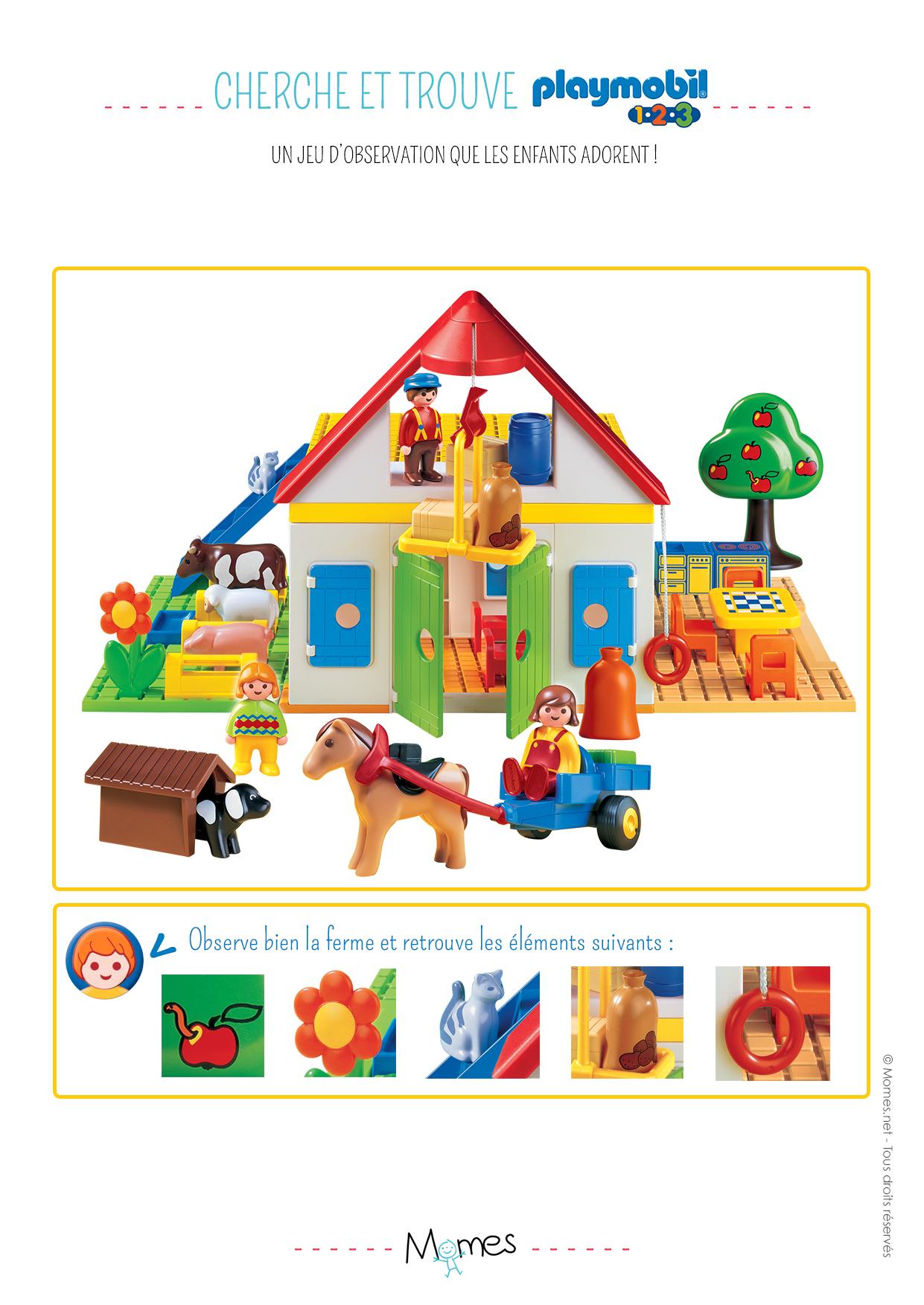 Cherche et trouve Playmobil 123