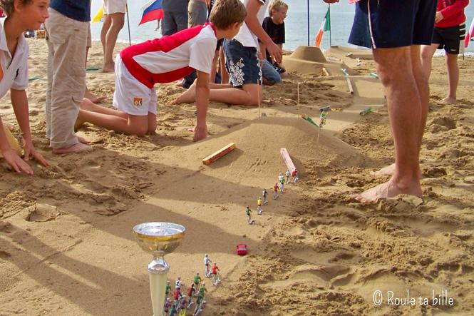 circuit de billes dans le sable
