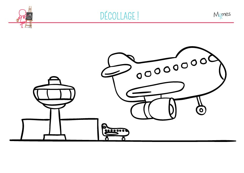 Coloriage a roport - Avion a dessiner ...