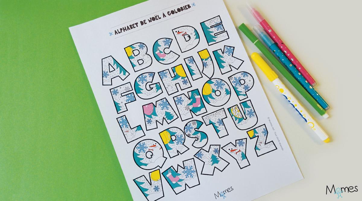 Jeux Coloriage Alphabet.Coloriage Alphabet De Noel A Imprimer Momes Net