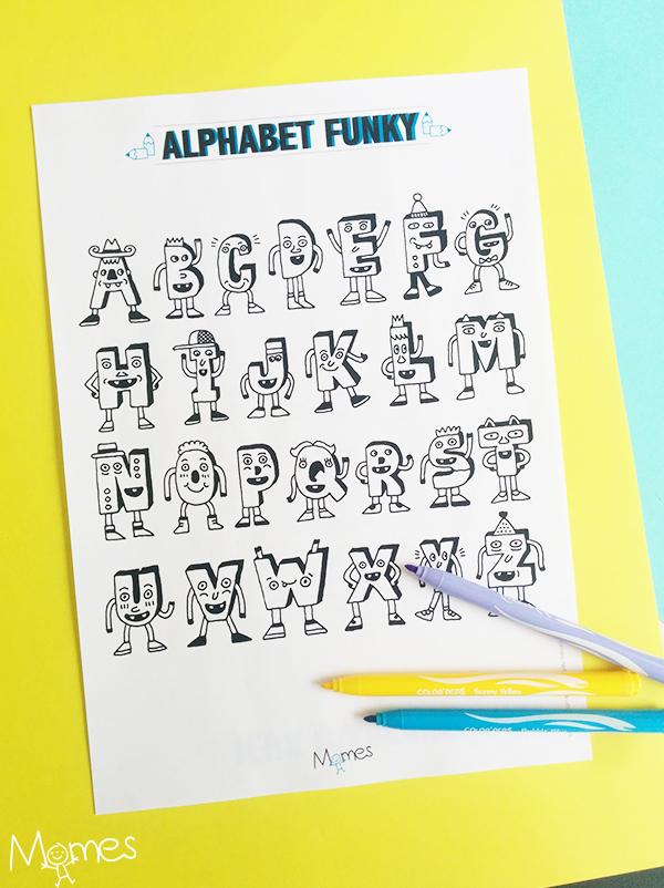 Coloriage Alphabet rigolo