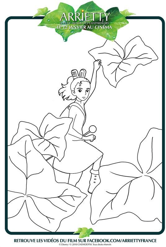 Coloriage Arrietty 3