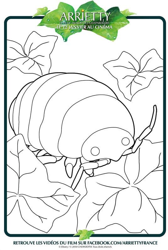 Coloriage Arrietty 5