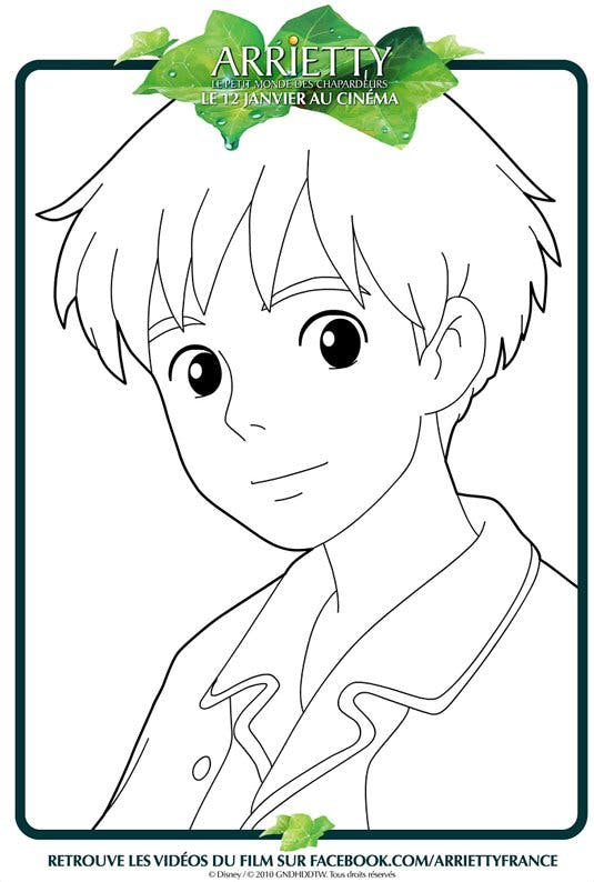 Coloriage Arrietty 6 - Momes.net