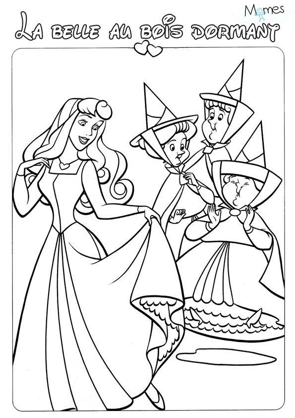 Coloriage aurore la belle au bois dormant - Prince et princesse dessin ...
