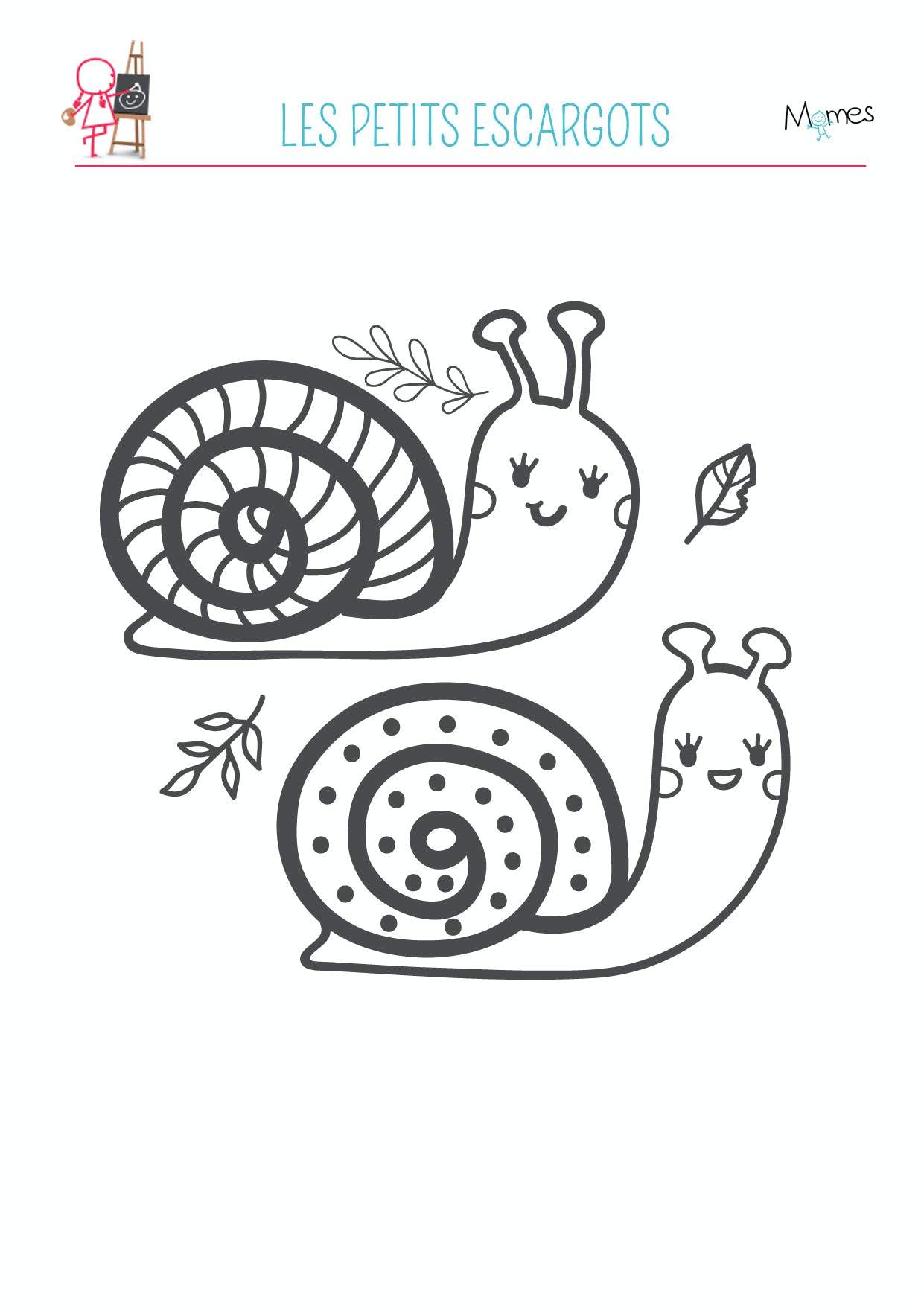 coloriage escargot a imprimer
