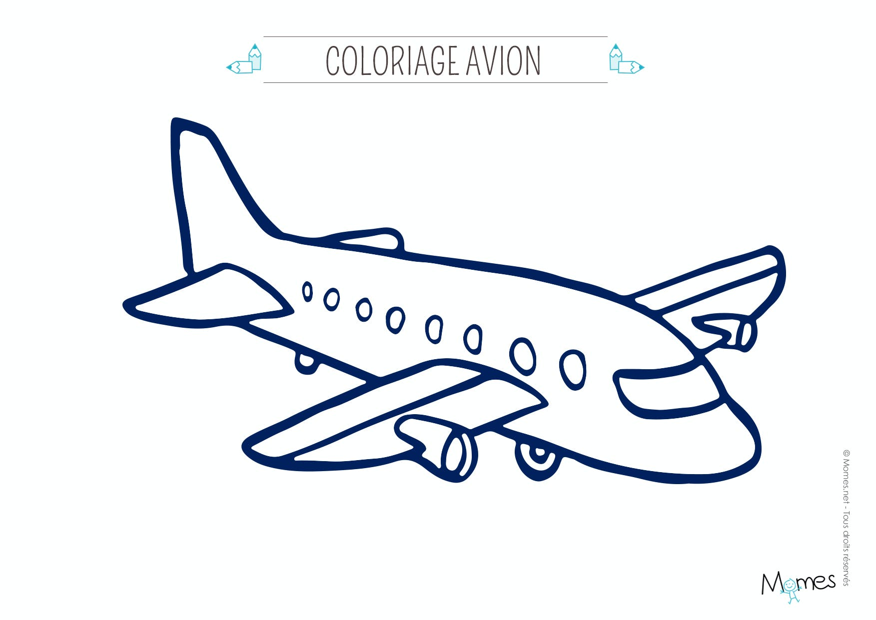 Coloriage avion - Dessin avion stylise ...