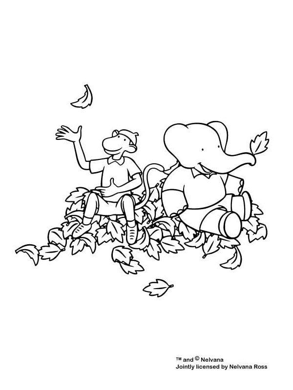 Coloriage Anniversaire Babar.Coloriage Babar 5 Momes Net