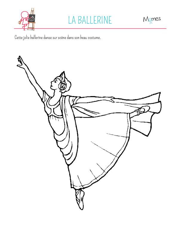 Coloriage Danseuse Cirque.Coloriage Ballerine Momes Net