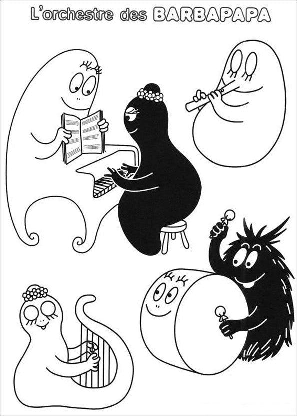 Coloriage Barbapapa 10