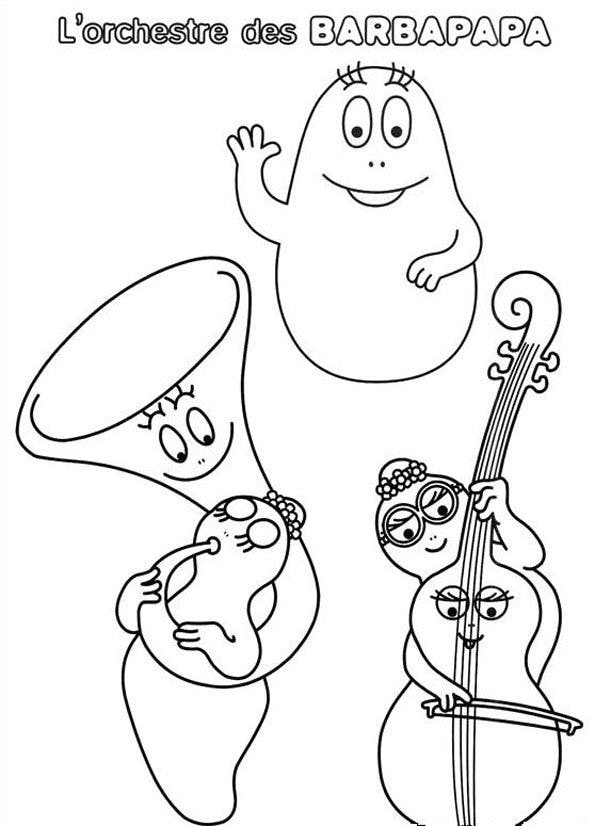 Coloriage Barbapapa 5