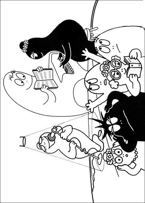 Coloriage Barbapapa 9