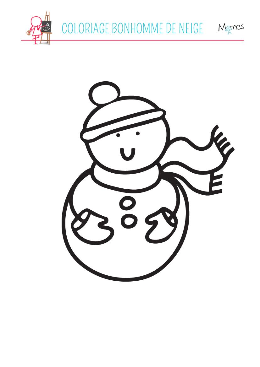 Coloriage bonhomme de neige - Dessin de neige ...