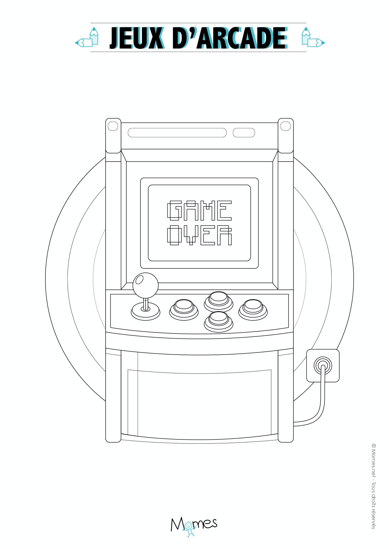 borne arcade coloriage
