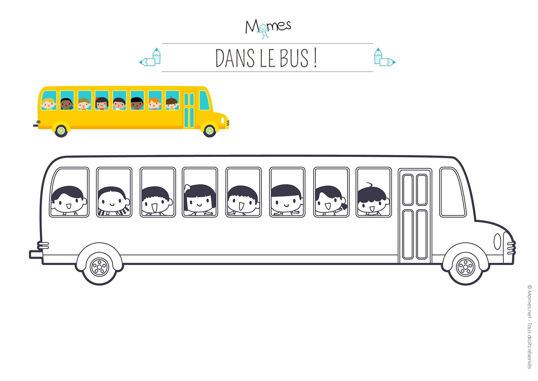 coloriage bus à imprimer