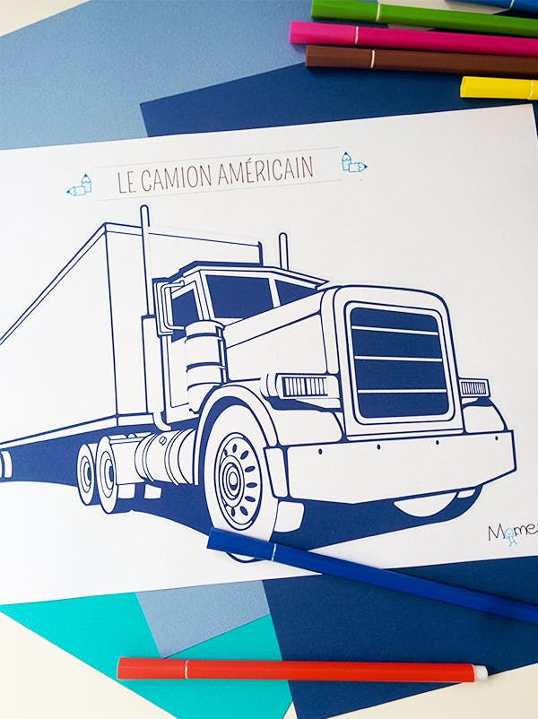 Coloriage Gros Camion.Coloriage Camion 2 Momes Net