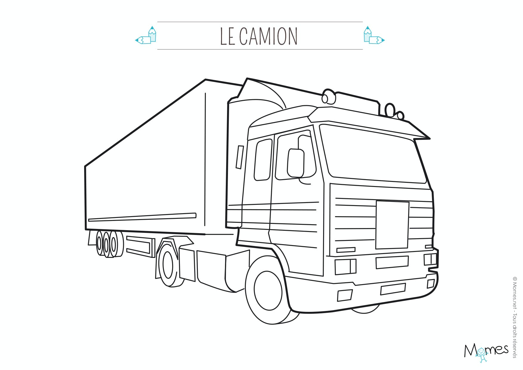 Coloriage camion (3) - Momes.net