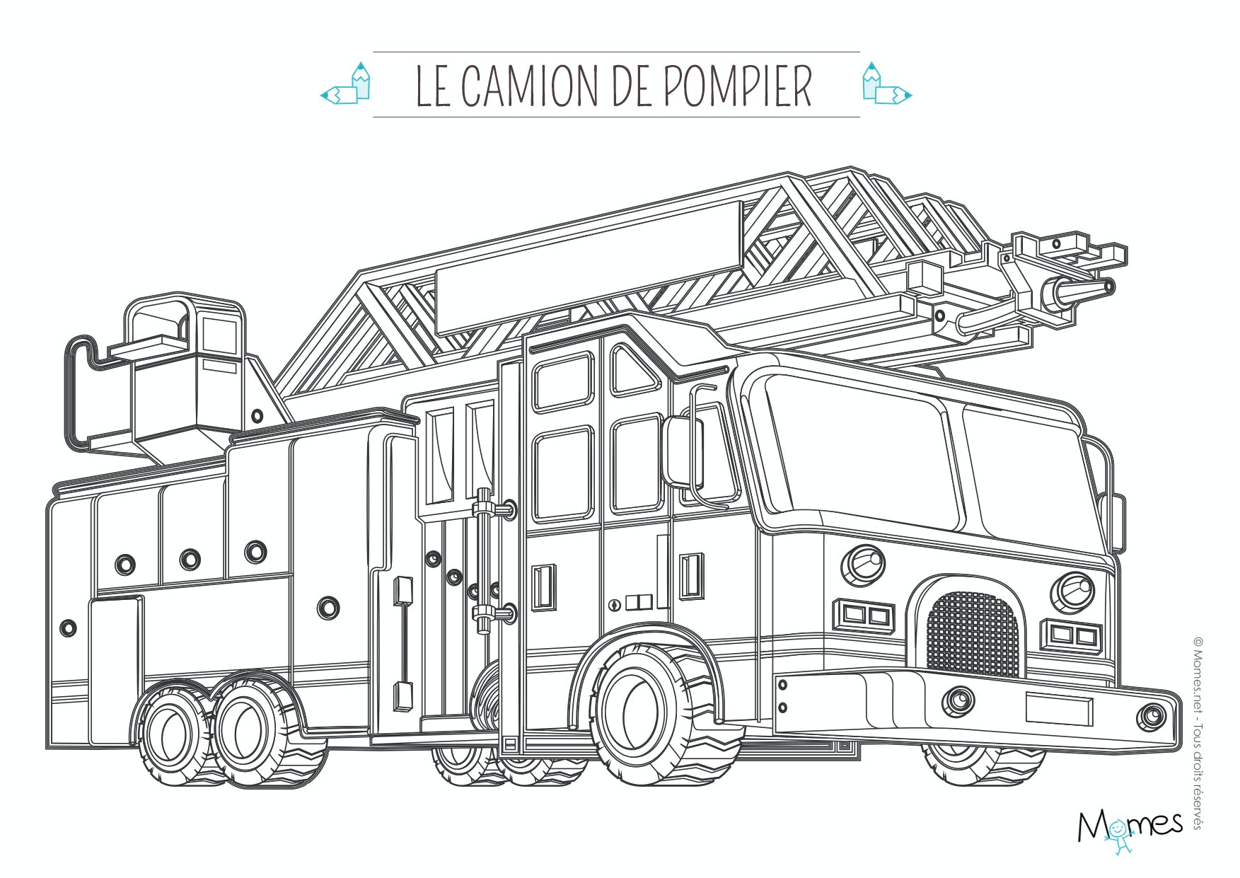 Luxe dessin a imprimer camion americain - Dessin camion americain ...