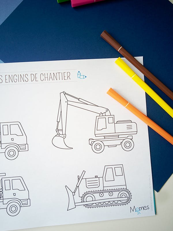 Coloriage camion - Dessin de camion a imprimer ...