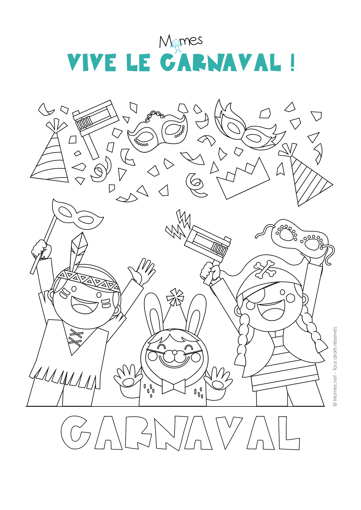 Coloriage carnaval - Dessins carnaval ...