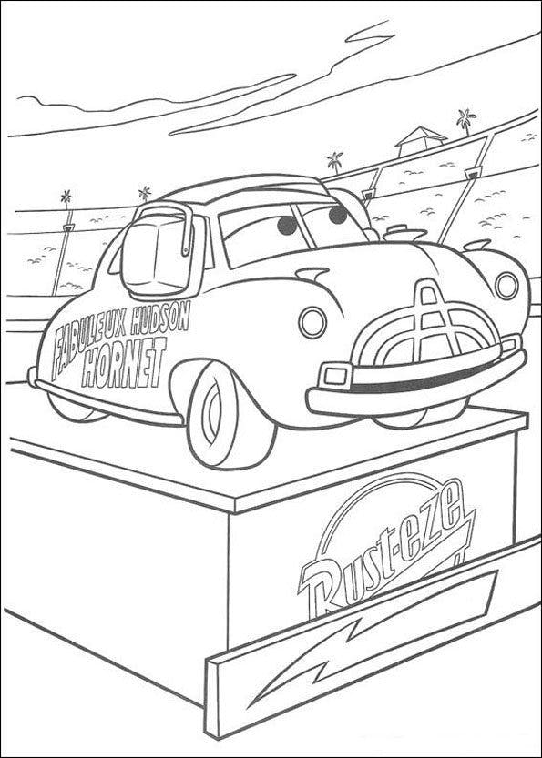 Coloriage cars 9 - Coloriage cars et mack ...